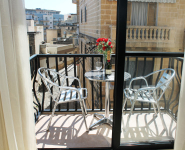 Front Balcony with garden furniture - seating for 2 persons