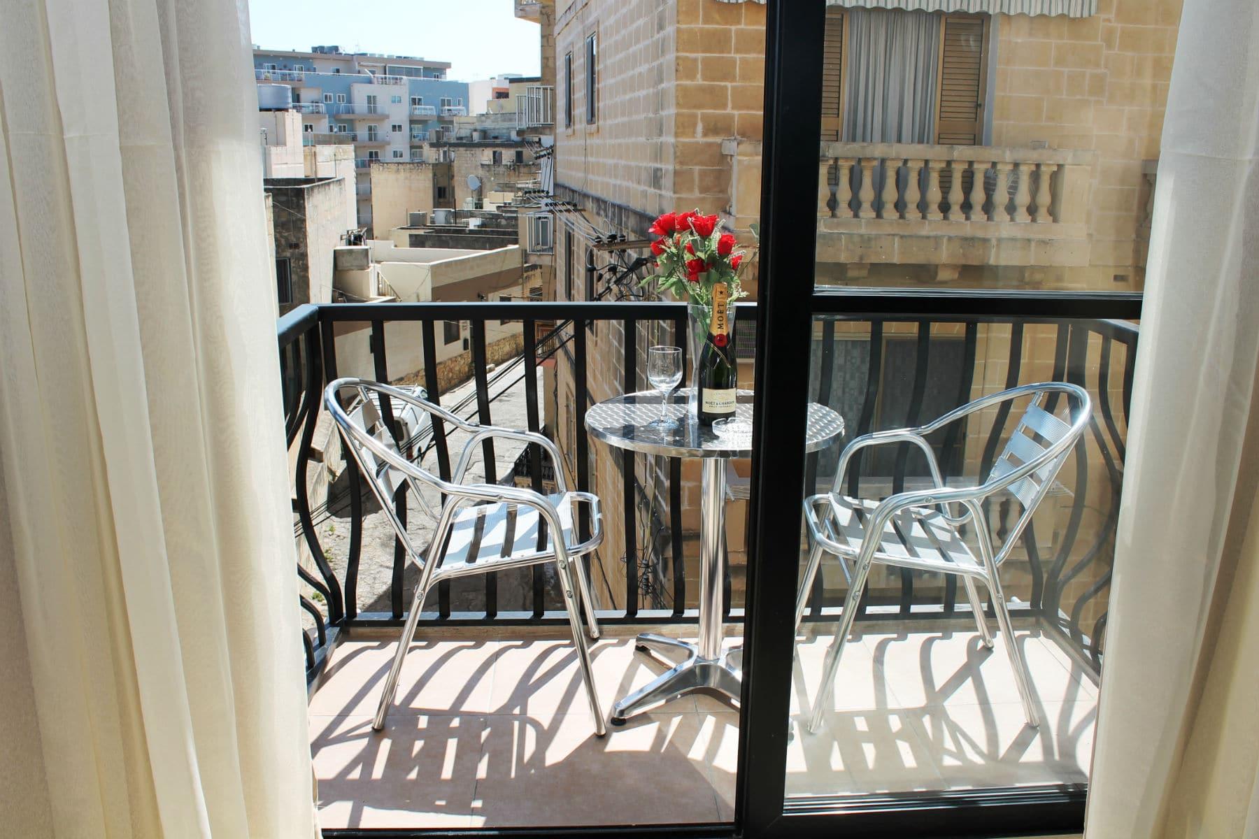 Holidays to Bugibba Malta - Front Balcony