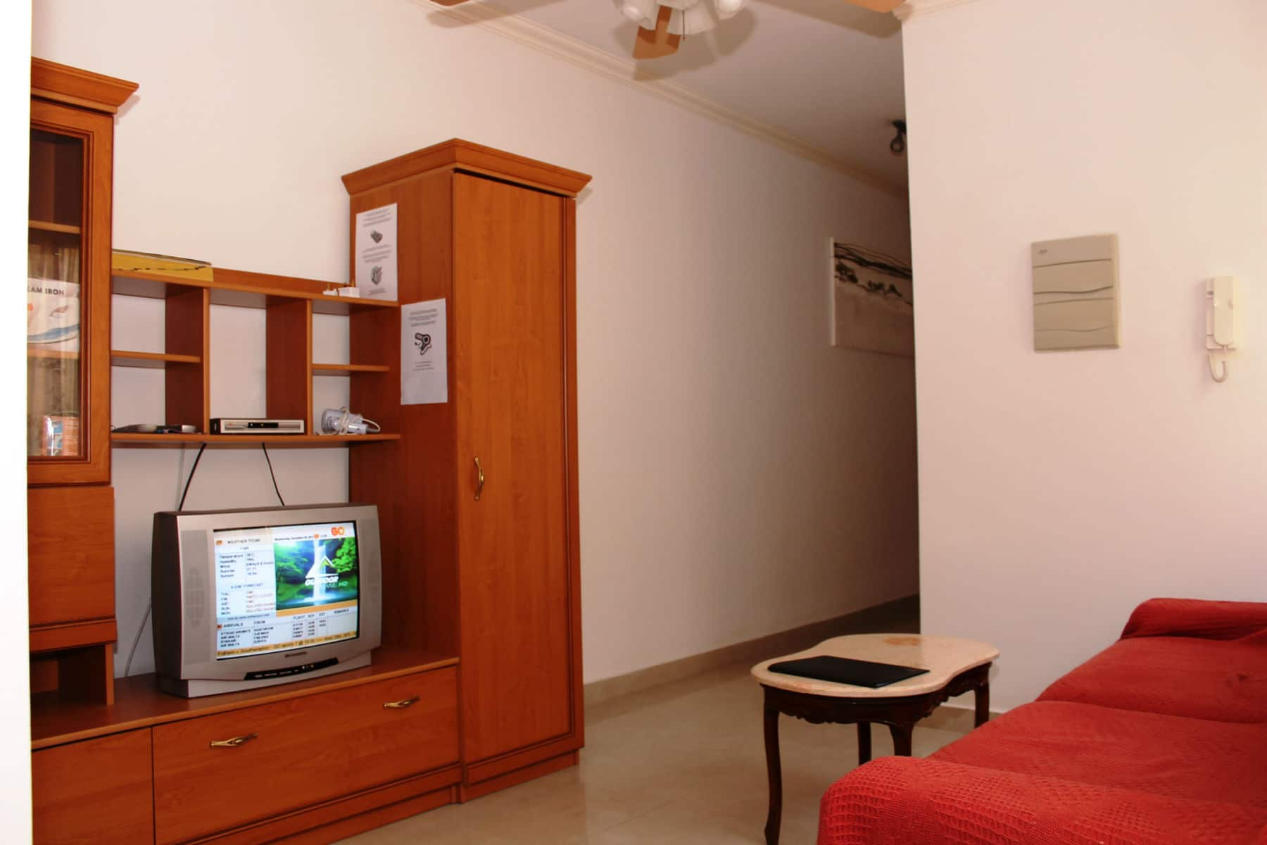 Small sitting area with free IPTV and WiFi