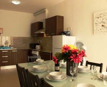 Comfortable 2 bedroom apartments with well equipped kitchen