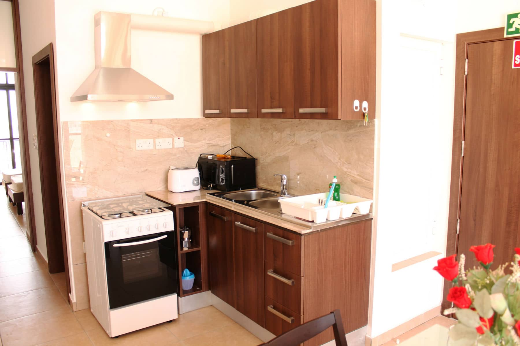 Well equipped kitchenette Sea view Holiday penthouse