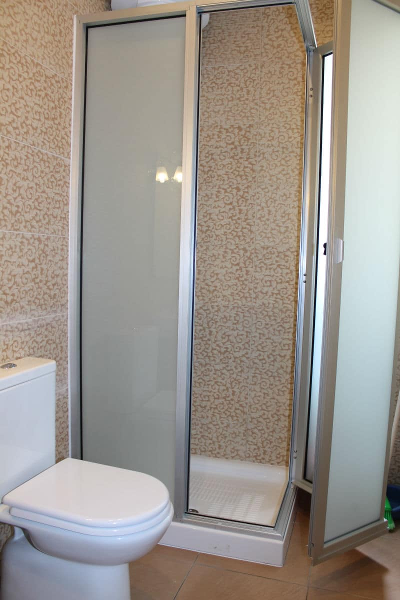 Brand New Main Bathroom.Seafront holiday apartment with terrace
