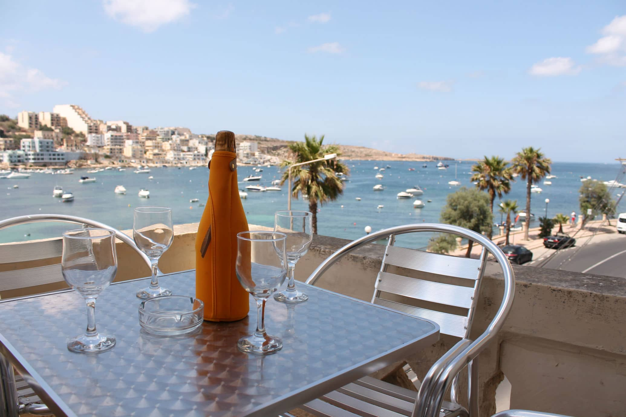 Blue Harbour 1 Seafront Holiday Apartment 2 Bedroom With Terrace St Paul S Bay 333 Saint Street